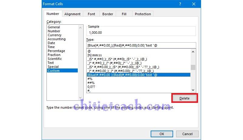 Hình ảnh 14: Custom Format Excel 2013