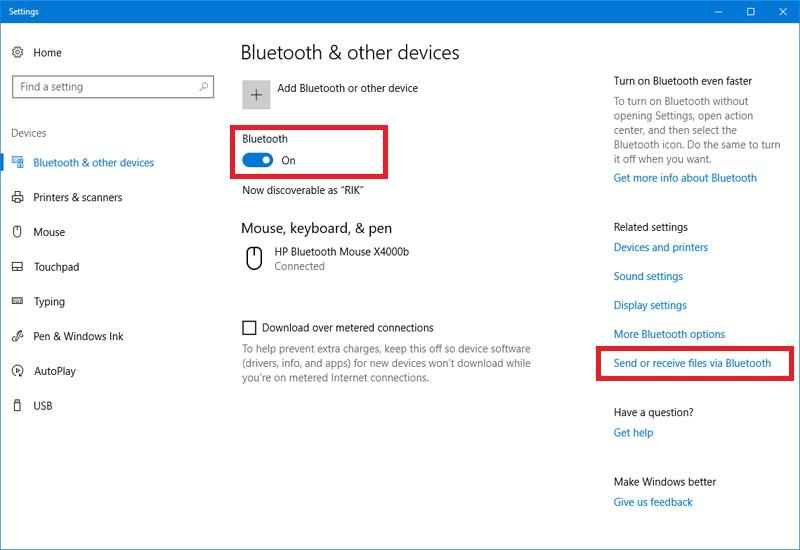 Hình ảnh 1: Bluetooth Win10