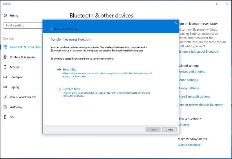 Hình ảnh 2: Bluetooth Win10