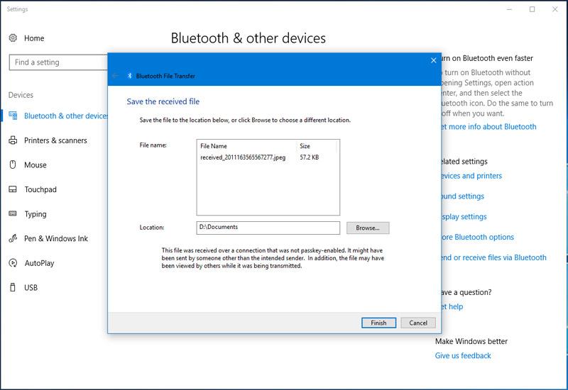 Hình ảnh 4: Bluetooth Win10