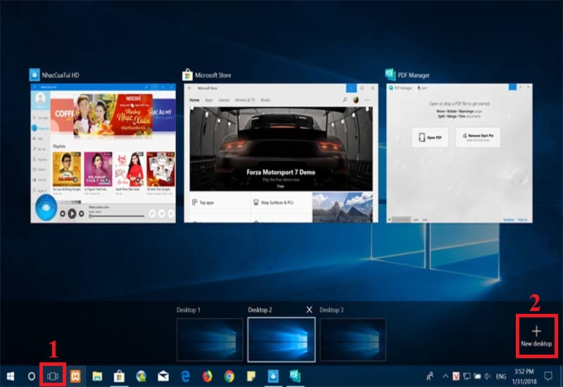 Hình ảnh 1: Desktop Windows 10