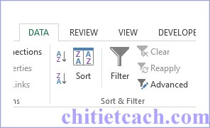 Hình ảnh 3: Filter Excel