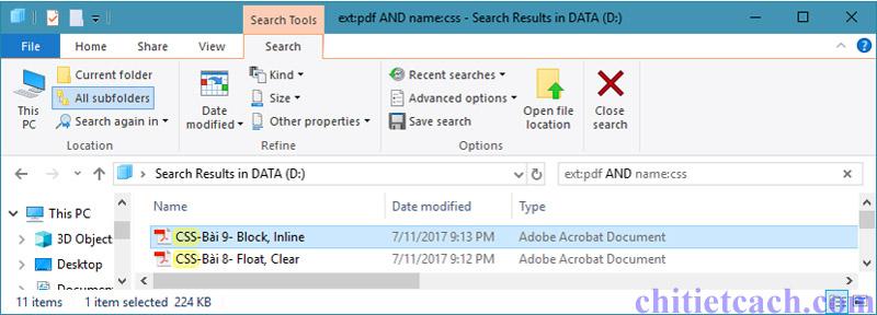 Hình ảnh 10: Tìm kiếm nhanh trong Windows