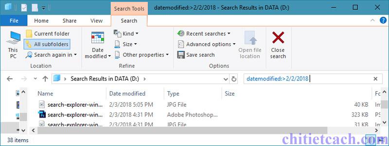 Hình ảnh 3: Tìm kiếm nhanh trong Windows