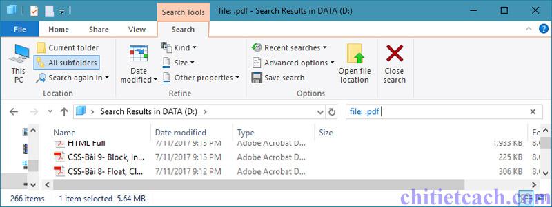 Hình ảnh 4: Tìm kiếm nhanh trong Windows