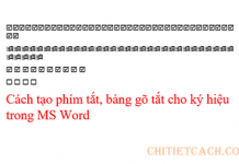 tao-short-cut-key-symbol-ms-word