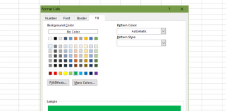 Fill color formatting rule